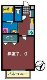 シルフハイム1階Fの間取り画像