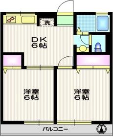 シティハイムパークサイド2階Fの間取り画像
