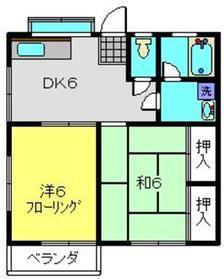 ハイツトキナカB棟2階Fの間取り画像