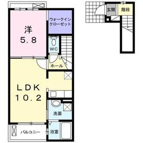 ピア チェーレ2階Fの間取り画像