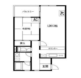 ピエタテール富士見1階Fの間取り画像