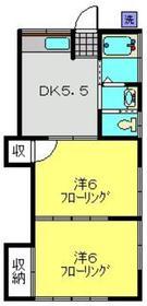 アパートメントスミカ1階Fの間取り画像