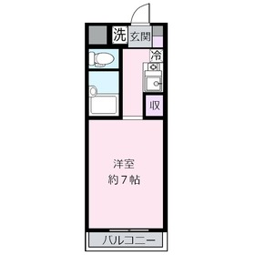 plumas(プルマス)上福岡Ⅱ2階Fの間取り画像