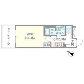 赤坂駅 徒歩5分2階Fの間取り画像