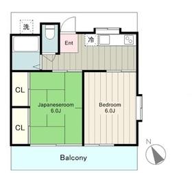 サンハイム1階Fの間取り画像