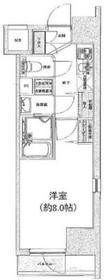 アイル銀座京橋壱番館6階Fの間取り画像
