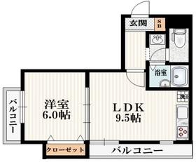 新宿三丁目駅 徒歩16分2階Fの間取り画像