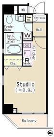 パークサイド錦糸町レジデンス4階Fの間取り画像
