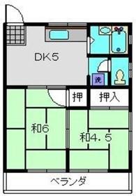 保土ヶ谷駅 バス13分「藤塚インター」徒歩4分2階Fの間取り画像