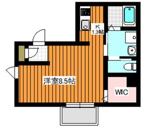 シエル2階Fの間取り画像
