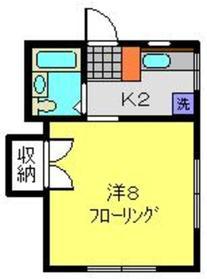 弘明寺駅 徒歩15分1階Fの間取り画像