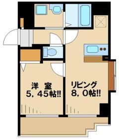 ウインベルコーラス聖蹟桜ヶ丘11階Fの間取り画像