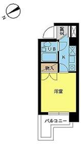 スカイコート川崎67階Fの間取り画像