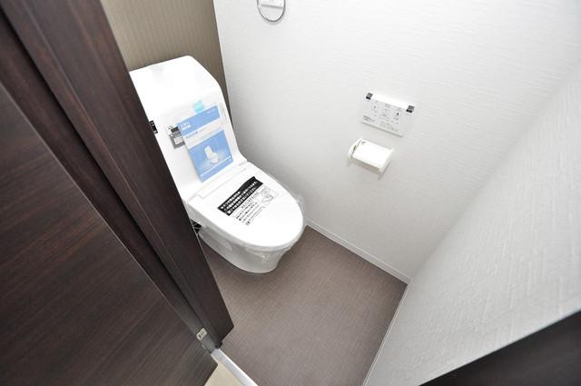 Realize長瀬 清潔感のある爽やかなトイレ。誰もがリラックスできる空間です。