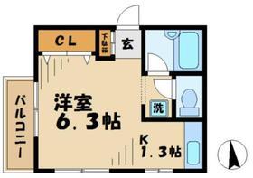 KO.KOコヤマ2階Fの間取り画像
