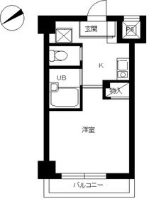 スカイコート銀座東8階Fの間取り画像