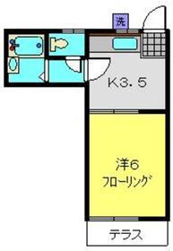 ハイツムラマツ1階Fの間取り画像