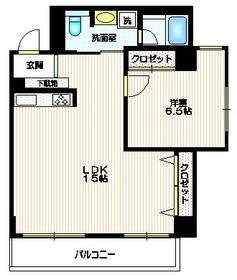 イーストガーデン2階Fの間取り画像