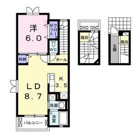 フォーブル ナカモリ3階Fの間取り画像