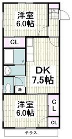 二宮駅 徒歩19分1階Fの間取り画像
