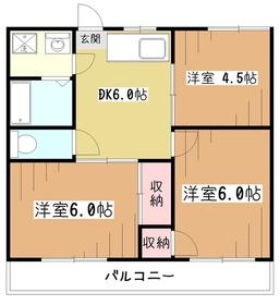 グリーンヒルタカハシ2階Fの間取り画像