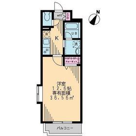 アンバサーダ・ゾシマ2階Fの間取り画像