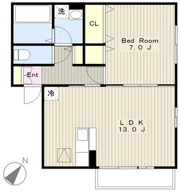 ソレーユ・エム2階Fの間取り画像