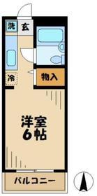 グリーンハイツ唐木田1階Fの間取り画像