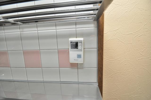 パレグリシーヌ 給湯リモコン付。温度調整は指1本、いつでもお好みの温度です.