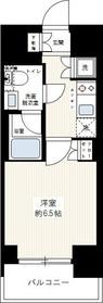リヴシティ川崎7階Fの間取り画像