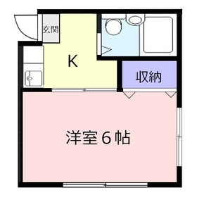 コーポコマ2階Fの間取り画像