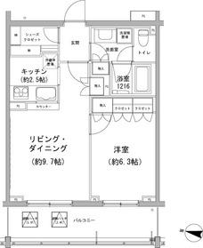 石川台駅 徒歩8分3階Fの間取り画像