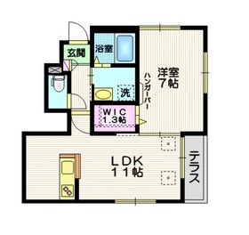 maison keyaki1階Fの間取り画像