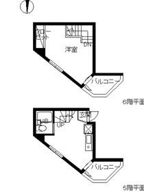 スカイコート高田馬場第35階Fの間取り画像