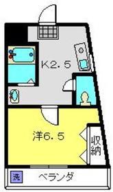クリエイト小柳3階Fの間取り画像