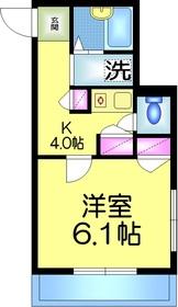 メゾンドゴトー1階Fの間取り画像