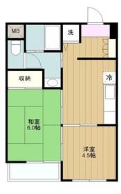 町田駅 徒歩10分4階Fの間取り画像