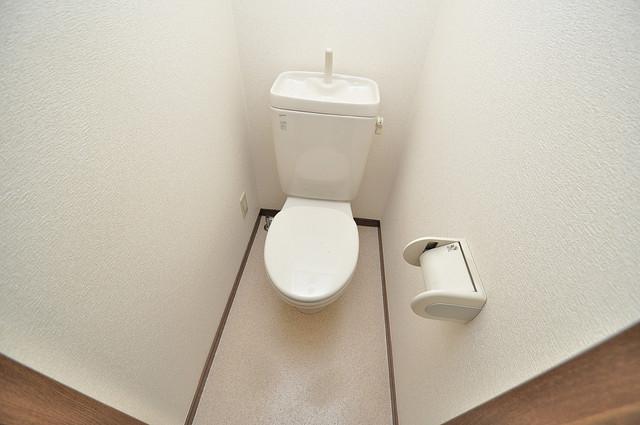 エムズコンフォート 清潔感のある爽やかなトイレ。誰もがリラックスできる空間です。