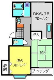 横浜駅 バス20分「東泉寺前」徒歩1分2階Fの間取り画像