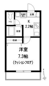 メゾン ソレイユ2階Fの間取り画像