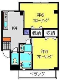鹿島田駅 徒歩13分3階Fの間取り画像