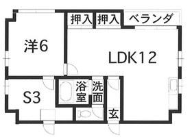 フローラル新屋敷2階Fの間取り画像