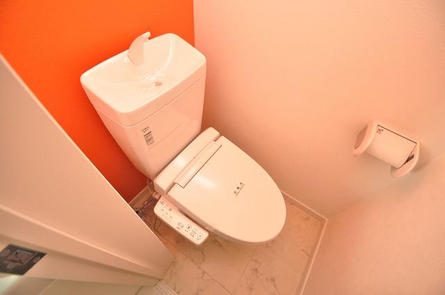 オズレジデンス長瀬 清潔感のある爽やかなトイレ。誰もがリラックスできる空間です。