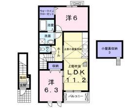 レオビーナ2階Fの間取り画像