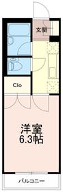 ドミール稲城1階Fの間取り画像