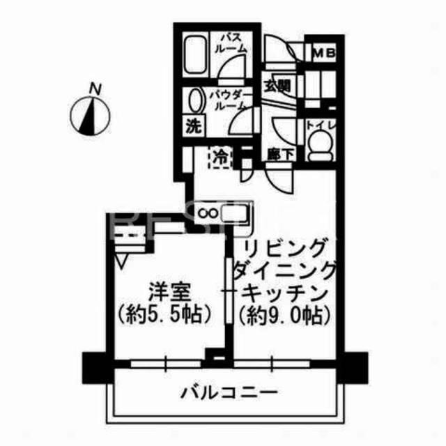 レジディア神田東間取図