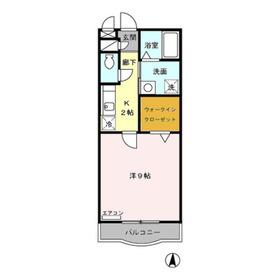 アンソレイユ1階Fの間取り画像