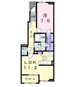 ラミーナⅠ1階Fの間取り画像