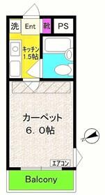 シャトーロマネ1階Fの間取り画像