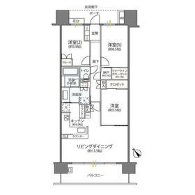 ガーデンアリーナ新百合ヶ丘ヒルトップコート壱番館5階Fの間取り画像